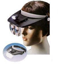 Visiera Occhiali Lente Lenti ingrandimento con LED Torcia Testa Frontale
