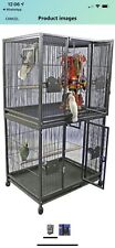 a and E Cage Co. Weston Double Stack Bird Cage Black