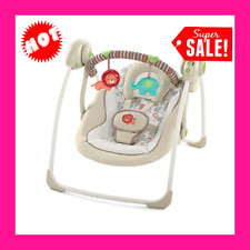 Baby Bouncer Swing Seat Rocker Portable Electric W/ Sounds Infant Cradle Chair