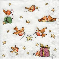 6 x PAPER NAPKINS for Decoupage A STAR FOR YOU CHRISTMAS - SMALL COCKTAIL SIZE