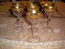 Vintage Gold Encrusted Tiffin Cordial Glasses - Never used - Set of 7