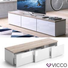 VICCO Lowboard PANARAI Weiß - Fernsehschrank Sideboard TV Regal Fernsehtisch