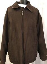 Weatherproof Brown Microfiber 6 Pocket Fully Lined Men's Coat Size XL