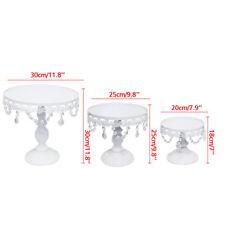 6PCS Crystal Metal Cake Holder Cupcake Stand Plates For Wedding Birthday Display