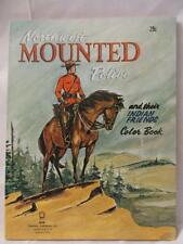 """Vintage 1965 """"Mounted Police & Indian Friends"""" Coloring Book - EXC Cond - Unused"""