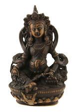 Statue tibetaine Kubera Jambhala Dieu des Richesses Vaishravana 11cm antik 25531