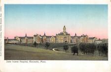 STATE INSANE HOSPITAL Worcester, MA Mental Asylum ca 1900s Vintage Postcard