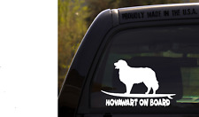 Hovawart on Board - Funny Dog Breed Decal Sticker for car or Truck Window
