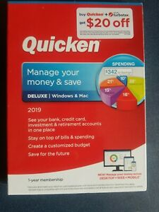Quicken Deluxe 2019 Windows/Mac Finance Software