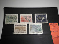"FRANCOBOLLI GERMANIA GERMANY 1969 ""LANDSCAPES"" MNH** SET (CAT.X)"
