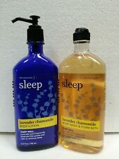 Bath and & Body Works Sleep LAVENDER CHAMOMILE Lotion & Body Wash Gel Set