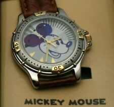 Disney Watch Mickey Mouse Case Diver Style Two Tone Mens Watch New NIB