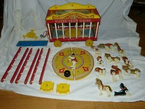 Antique Fisher Price Circus Wagon with animals