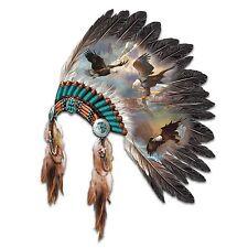 Head Dress Eagle Native American Replica Wall Sculpture Eagles Soaring NEW