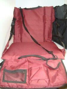 Tofasco Mac Sports Lot 2 Black/Burgundy Sports Bench Chair Portable Seat Cushion