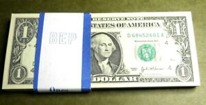 Series 2003 D CLEVELAND Sequential  $1 FRN   Notes $100 BEP Strapped Pack