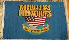 WORLD CLASS Fireworks 3' x 5' Flag