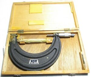 """New 5"""" to 6"""" Outside Micrometer - .001"""" - with Standard & Wrench"""