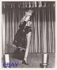 Barbara Lawrence leggy fishnet stockings VINTAGE Photo Man With The Gun