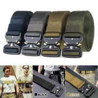 UK Quick Release Army Belt Military Training Belt Metal Buckle Tactical Webbing
