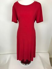 "Periwinkle Red Career Dress 42"" size 12 Stain in front stretchy"