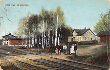 AK Gruß aus Voigtsgrün Bahnhof Eisenbahnschienen Postkarte gel. 1912