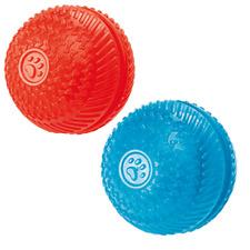 GorFlex Squeak & Treat Ball Rubber Dog Toy 8cm GF14