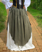 New Renaissance Medieval SKIRT WITH  APRON