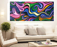 Abstract original change Colour By jane COA Authentic Huge Canvas