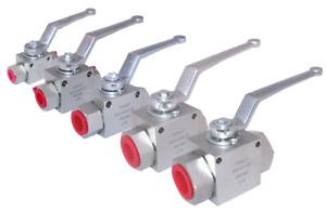 "Hydraulic 2 & 3 Way High Pressure Ball Valve - 1/4"" - 1"" BSP - 500 Bar MWP"