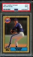 1987 87 Topps Tiffany Nolan Ryan #757 PSA 9 Mint Houston Astros HOF Glossy