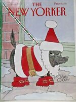 The New Yorker Magazine COVER ONLY  Dec 9 1991 Dog in Santa Suit by Gahan Wilson