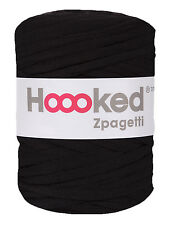 Black Hoooked Zpagetti t-shirt yarn for crochet (large roll)