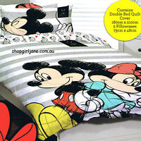 Mickey Minnie Mouse -Besties Disney - Double/US Full Bed Quilt Doona Duvet Cover
