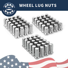 24 FOR CHEVROLET CHROME CONICAL SEAT 14X1.5 WHEEL LUG NUTS BULGE ACORN FOR CHEVY