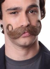 Handlebar Mustache .. Human Hair for Theatre or Halloween.  Color Choice