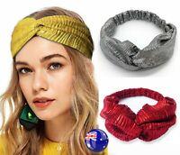 Women Retro boho Yoga Cross Twist scarf Hair head band headband Wrap bandana
