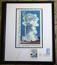 Old Faithful Yellowstone National Park Original 1972 USPS 8Cent Stamp FDC Signed