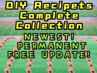 Animal Corssing New,Full Complete All DIY Recipes Cards Full,Catalog Clothing.
