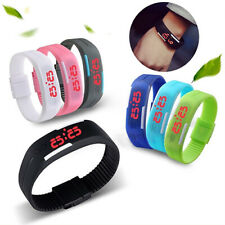Fashion Men Women Silicone Red LED Sports Bracelet Touch Digital Wrist Watches