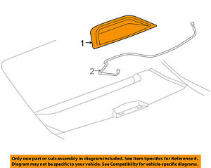 Buick GM OEM 06-11 Lucerne-3rd Third Brake Light-Lamp 10382757