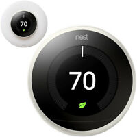 Google Nest Learning Smart Thermostat Gen 3 White T3017US + elago Wall Plate