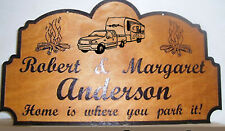 Personalized Wood Sign Camp Camper RV Family Name Any text Laser engraved.Gift.