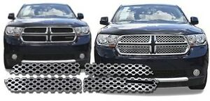Chrome Grille Overlay FITS 2011 2012 2013 Dodge Durango (SXT / Crew / Express)