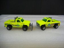 Vintage Pair Hot Wheels Ecology Center Chevy Trucks