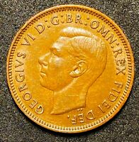 1952 Great Britain 1 Farthing  George VI with 'IND:IMP   (327)