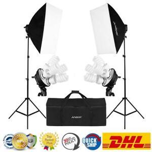 Fotostudio Videoleuchte Beleuchtung Fotografie Licht Softbox Stativ Lampe Kits