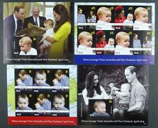 Palau 2014 Prince Georg Royal Visit Australien William & Kate Royalty MNH