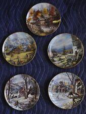 """Danbury Mint, Rudi Reichardt, Country Memories, Limited 8"""" Porcelain Plates (5)"""