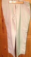 Columbia Large 38W Women's Draw String Roll Up Pants Ivory Color